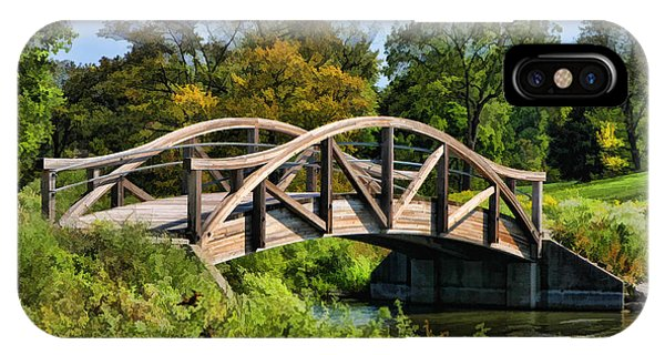 Wheaton Northside Park Bridge IPhone Case