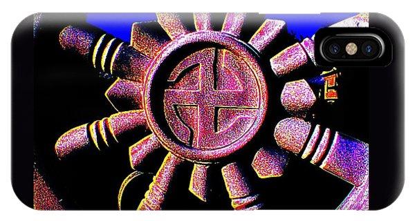 Buddhist Dharma Wheel 1 IPhone Case