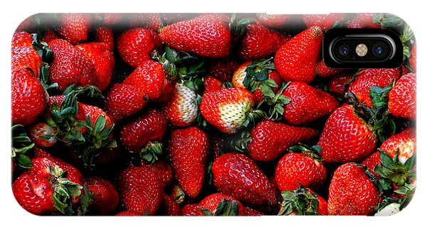 Wheelbarrow Of Strawberries IPhone Case