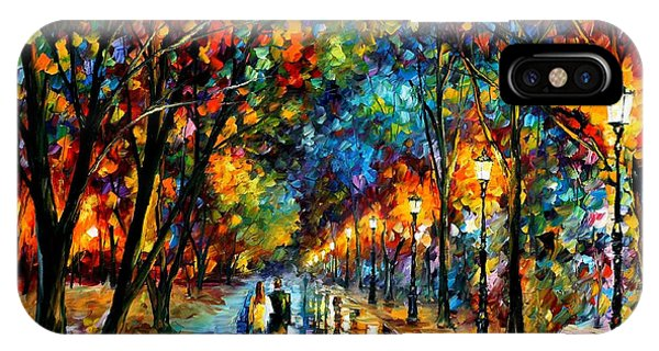 iPhone Case - When Dreams Come True - Palette Knlfe Landscape Park Oil Painting On Canvas By Leonid Afremov by Leonid Afremov