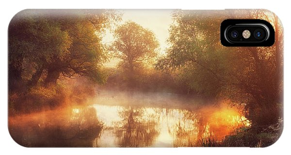 Creek iPhone Case - When Nature Paints With Light II by Leicher Oliver