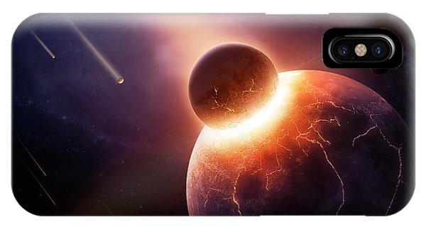Explosion iPhone X Case - When Planets Collide by Johan Swanepoel