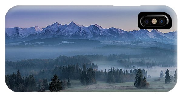 Fog iPhone Case - When Silence Is Sneaking Below The Mountains by Peter Svoboda, Mqep