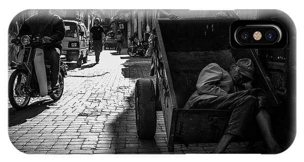 Alley iPhone Case - When Sleep Overwhelms by Christian Anker Knudsen