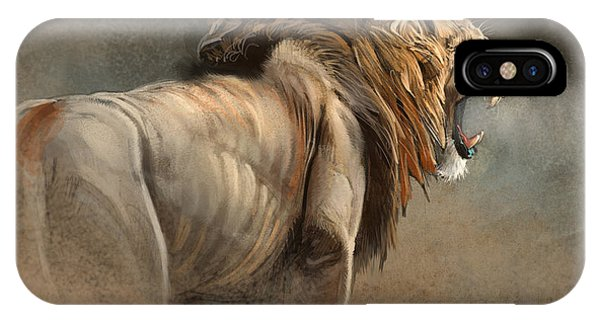 Lions iPhone Case - When The King Speaks by Aaron Blaise
