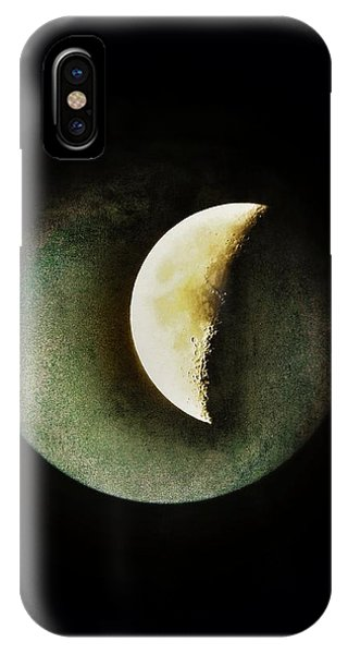 Half Moon iPhone Case - When The Moons Collide by Marianna Mills