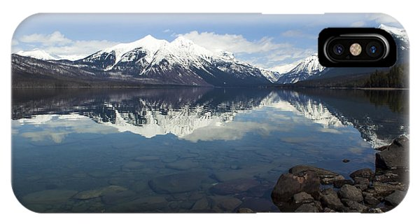 IPhone Case featuring the photograph When The Sun Shines On Glacier National Park by Fran Riley