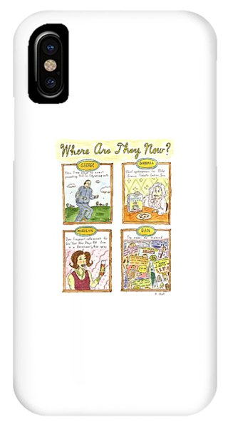 George Bush iPhone Case - Where Are They Now? by Roz Chast