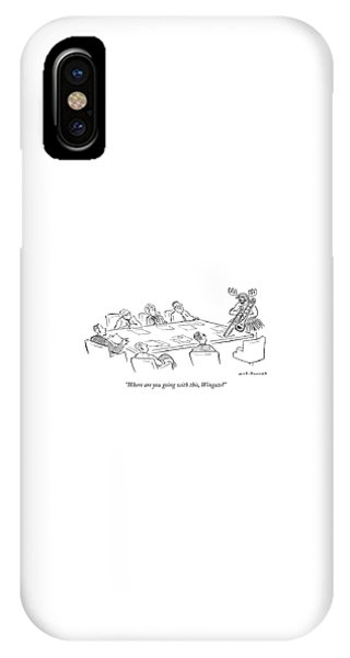 Trombone iPhone X Case - Where Are You Going With This by Nick Downes