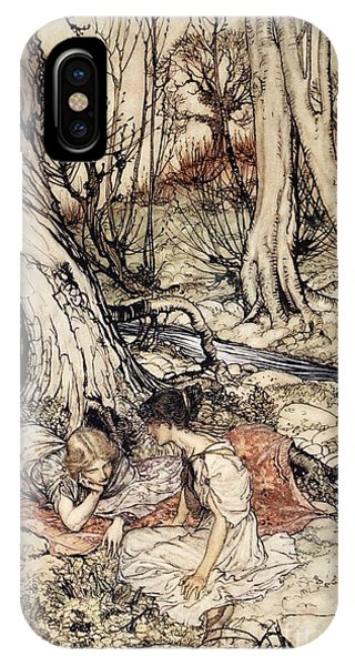1 iPhone Case - Where Often You And I Upon Fain Primrose Beds Were Wont To Lie by Arthur Rackham