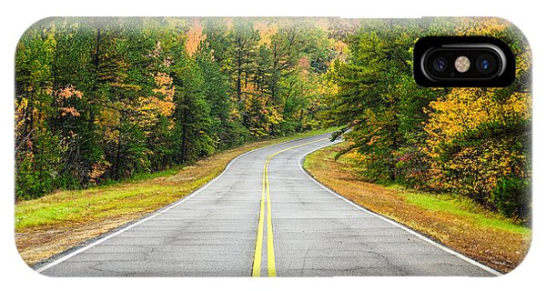 Where This Road Will Take You - Talimena Scenic Highway - Oklahoma - Arkansas IPhone Case