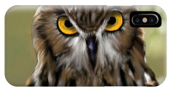 The Gaze Of An Owl - Where's My Dinner?  IPhone Case