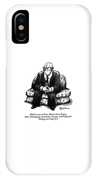While He Was In Paris IPhone Case