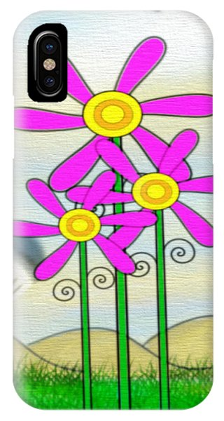 Whimsical Flowers IPhone Case