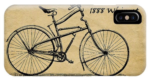 Antiques iPhone Case - Whippet Bicycle by Tom Mc Nemar