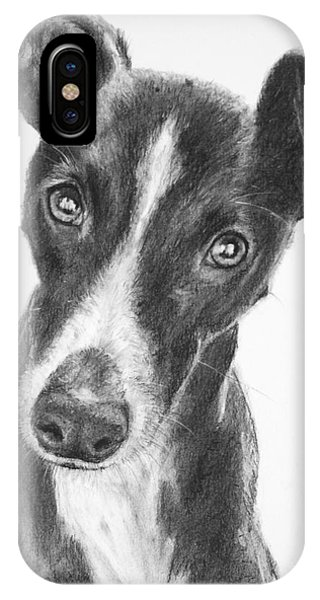 Whippet Black And White IPhone Case