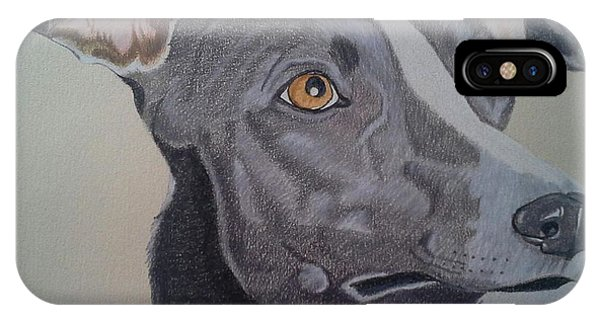 Whippet - Grey And White IPhone Case