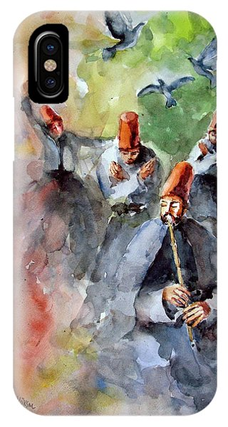 Whirling Dervishes And Pigeons         IPhone Case