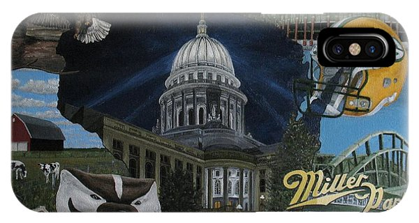 Whirlwind Around Wisconsin IPhone Case