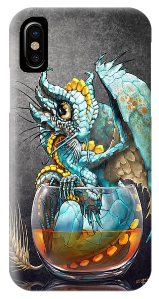 Dragon iPhone Case - Whiskey Dragon by Stanley Morrison
