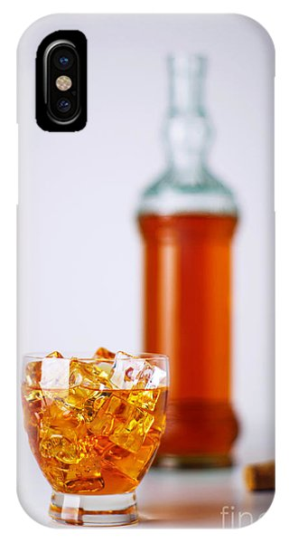Alcoholism iPhone Case - Whiskey Glass by Carlos Caetano