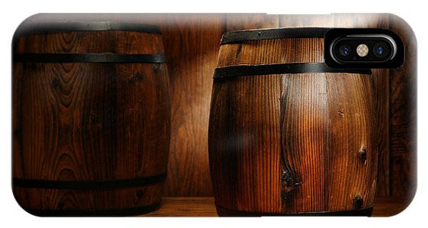 Whiskey iPhone Case - Whisky Barrel by Olivier Le Queinec