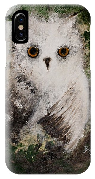 Whisper The Snowy Owl IPhone Case