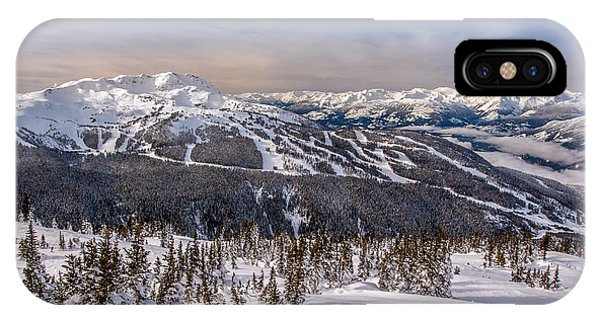 IPhone Case featuring the photograph Whistler Mountain Winter by Pierre Leclerc Photography