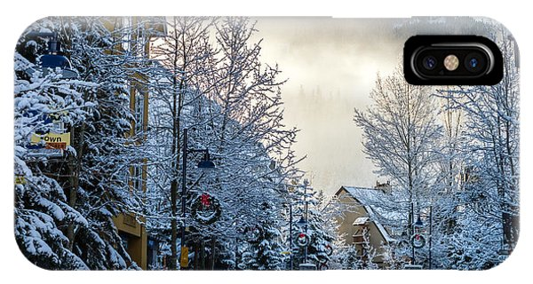 IPhone Case featuring the photograph Whistler Village On A Sunny Winter Day by Pierre Leclerc Photography