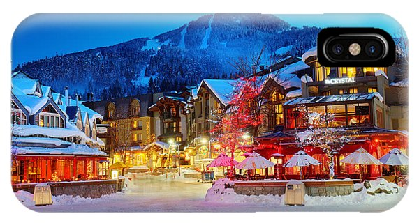 IPhone Case featuring the photograph Whistler Village  by Pierre Leclerc Photography