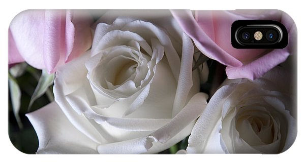 White And Pink Roses IPhone Case