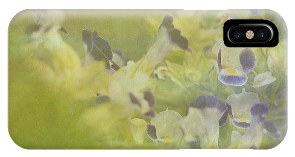 White And Violet Flowers IPhone Case