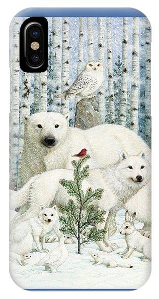 White Animals Red Bird IPhone Case