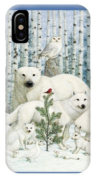 Finch iPhone Case - White Animals Red Bird by Lynn Bywaters