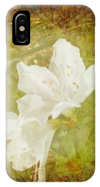 IPhone Case featuring the photograph White Azalea by Judy Hall-Folde