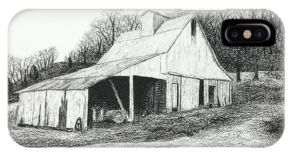 White Barn On Bluff Road IPhone Case