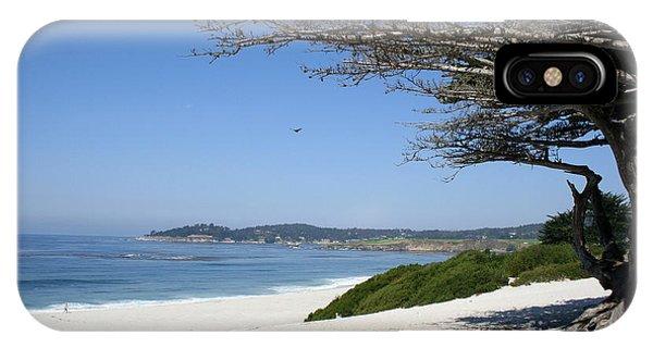 White Beach At Carmel IPhone Case