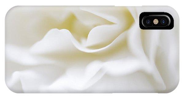 White Begonia Petals IPhone Case
