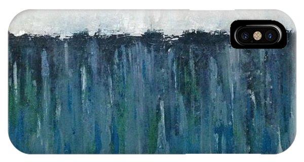 White/bluegreen Phone Case by Rami Besancon
