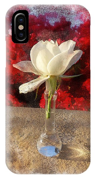White Bud And Vase Phone Case by Rick Lloyd