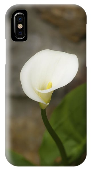 IPhone Case featuring the photograph White Calla Lily 2 by Sherri Meyer