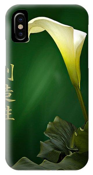 White Calla Lily IPhone Case