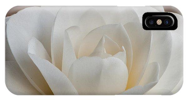 White Camellia IPhone Case