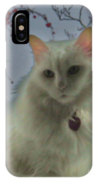 White Cat Dreams IPhone Case