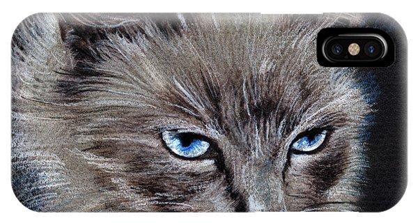 White Cat Portrait IPhone Case