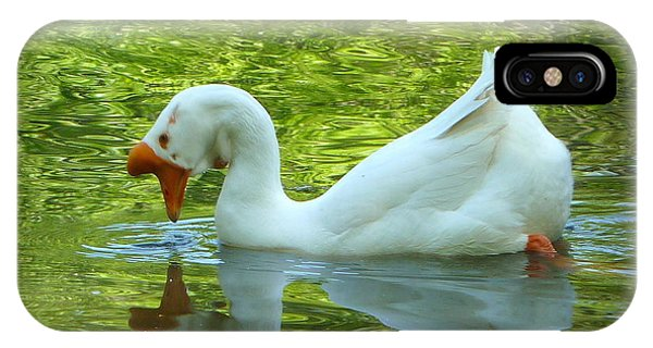White Chinese Goose Curtsy  IPhone Case