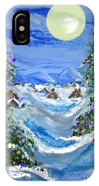 White Christmas At The North Pole IPhone Case