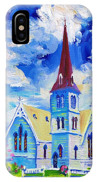 White Church Blue Sky IPhone Case