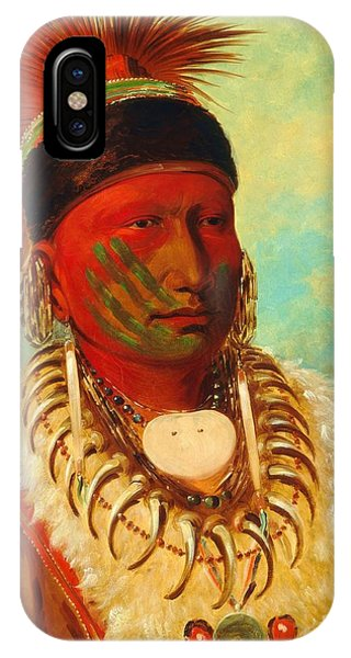 White Cloud - Chief Of The Iowas IPhone Case