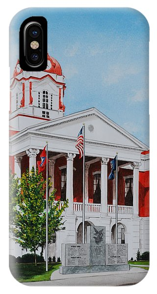 White County Courthouse - Veteran's Memorial IPhone Case